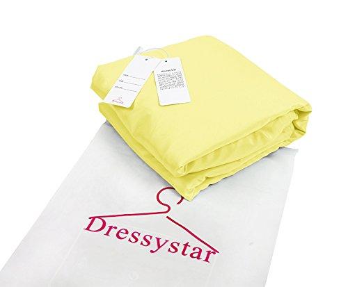 Dressystar Robe de soirée/bal/gala mini courte,bustier,à col en cœur à strass en tulle Jaune
