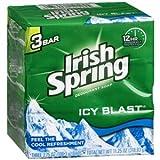 Irish Spring Deodorant Bath Soap ICY BLA...