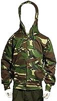 Children's kids camouflage zip hoodie camo (7-8 years, Woodland camo)