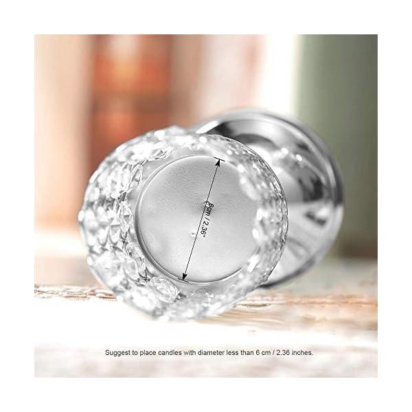 VINCIGANT Candelabros Luz de Té de Cristal de Plata Portavelas de Velas pequeñas para Centro de Mesa de Centro…