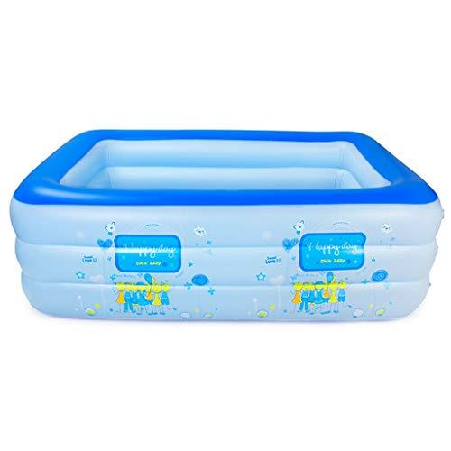Aufblasbare Badewanne, Faltende Wannen-Familien-Pool-Erwachsene Badewanne im Freien 210CM * 150CM * 60M (Farbe : B)