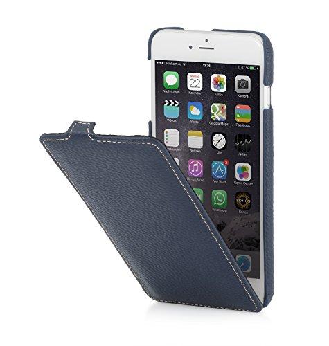StilGut, housse UltraSlim en cuir pour l'iPhone 6 Plus & iPhone 6s Plus (5.5 pouces), en noir nappa Bleu marine
