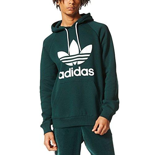 adidas Herren Trefoil Kapuzenpullover, Green Night, M (Hoodie Trefoil Adidas Originals)