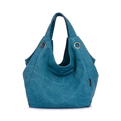 VANCOO Tela Totes Hobo Bag stile semplice dell'annata delle donne