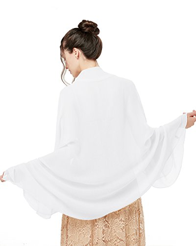 bridesmay Damen Strand Scarves Sonnenschutz Schal Sommer Tuch Stola für Kleider in 29 Farben White -