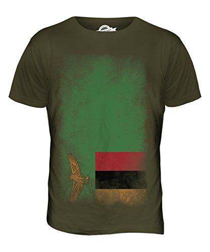 CandyMix Sambia Verblichen Flagge Herren T Shirt Khaki Grün