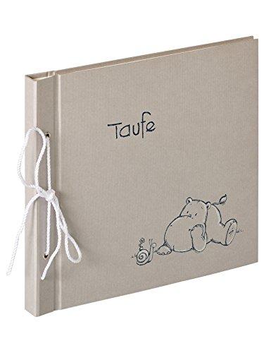 walther design MT-134 Babyalbum Meine Taufe Madu, 28x25 cm Album, Strukturpapier, Grau, 28.0 x 3.0 x 25.0 cm