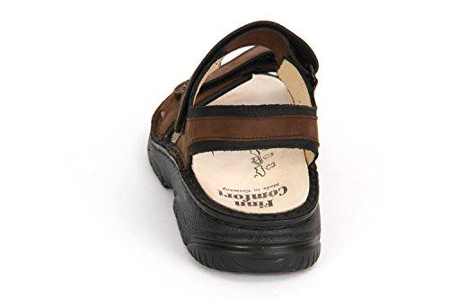 FinnComfort Sandale Colorado havanna/schwarz - Größe 9 br.-kombi.