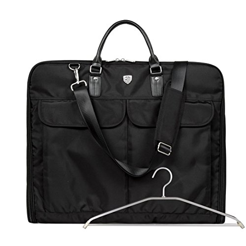 BAGSMART Kleidersack Anzugtasche Anzugsack mit Kleiderbügel Business Reisen Schwarz (Haken Bag Garment)