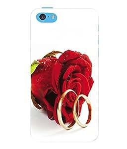 Fuson 3D Printed Rose Designer Back Case Cover for Apple iPhone 5C - D629