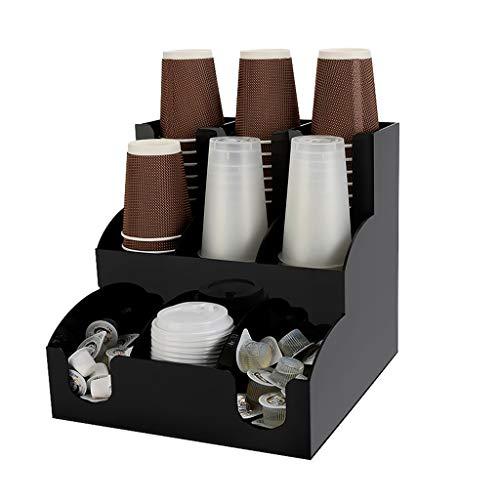 Einwegtüten Einweg-Getränkehalter Acryl Cup Storage Manager Getränkehalter Organizer Finishing Box Kaffee-Zubehör Lagerung Robust Und Solide (Color : Black, Size : 31 * 31 * 30.5cm)