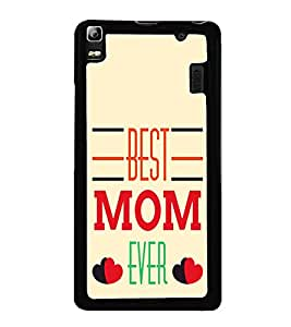 PrintVisa Best Mom Pattern High Glossy Designer Back Case Cover for Lenovo A7000 :: Lenovo A7000 Plus :: Lenovo K3 Note