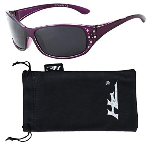 e8cd3bf6c3 Hornz HZ Serie Elettra – Gafas de sol polarizadas para mujer Marco de  lavanda profunda -