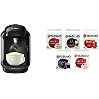 Bosch Tassimo Vivy 2 Coffee Machine with Tassimo Variety Box Pack of 5 (56 Servings)