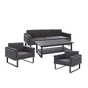 Exklusive Gartenmöbel OUTLIV. Boracay Alu/Textilene Loungemöbel Outdoor Gartenlounge Loungegruppe Lounge Set