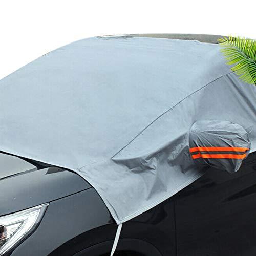 Lovejoy Store 2-in-1-Windschutzscheiben-Abdeckung für die Windschutzscheibe, Sonnenschutz, Schnee, EIS, Regen, Staub, für die meisten Fahrzeuge, LKW, Van, SUV, Mehrfarbig