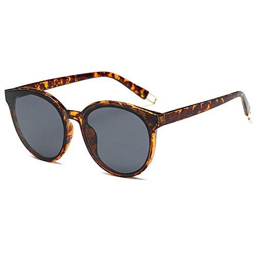 Komny Sonnenbrillen für Frauen weibliche Tide rundes Gesicht Sonnenbrille Blaue Meer und Sonnenbrille Tortoise Shell ash Tabletten
