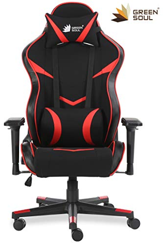 GreenSoul Monster Series Gaming/Ergonomic Healthy Chair in Fabric and PU...