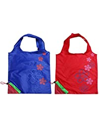 Levitas 2 Assorted Color Strawberry Foldable Shopping ECO Tote Bags - B0753CT238