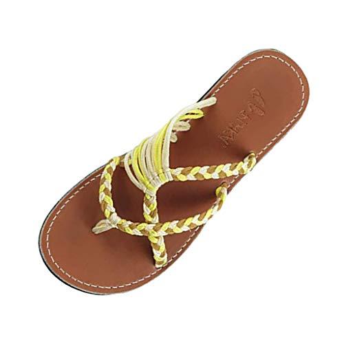 LANSKRLSP Pantofole -Pantofole Donna estive Elegant Ciabatte Donna estive da casa Mare Sandali Estivi Donna Mare Bassi Elegant Estivi
