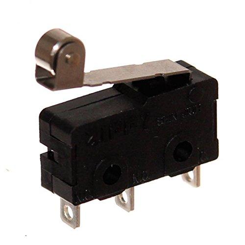 1 Zippy Mini Mikrotaster Microswitch mit Hebel & Rolle Schließer Taster Mikroschalter Flipper Neu - Mikroschalter Endschalter
