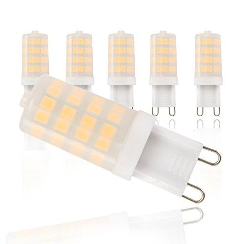 LED Leuchtmittel I G9 Lampenfassung I 5 x 3,5 W Glühbirnen à 320 Lumen I ersetzen 30 W Halogen Leuchten I Glühlampen I warm-weißes Licht I Energiesparlampe I 230 V