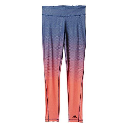 adidas Damen Leggings Miracle SCULPTT, Blau/Rot, L, 4055343814469