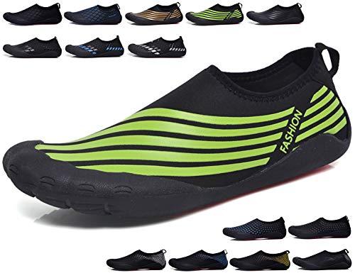SINOES Badeschuhe Wasserschuhe Strandschuhe Aqua Schuhe Surfschuhe Schwimmschuhe Schnelltrocknend für Herren Damen