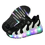 MNVOA Unisex Kinder Mode LED Schuhe mit Rollen Drucktaste Einstellbare Vibration Leuchten Skateboardschuhe Outdoor Gymnastik Turnschuhe Für Junge Mädchen