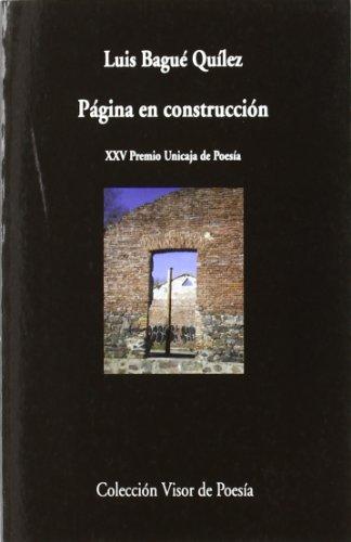 Páginas en construcción (Visor de Poesía) por Luis Bagué