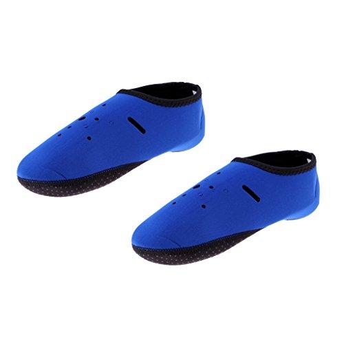 MagiDeal Erwachsene Tauchsocken Neoprensocken Strandsocken Anti-Rutsch Surfschuhe Neopren 2mm - Blau - XL