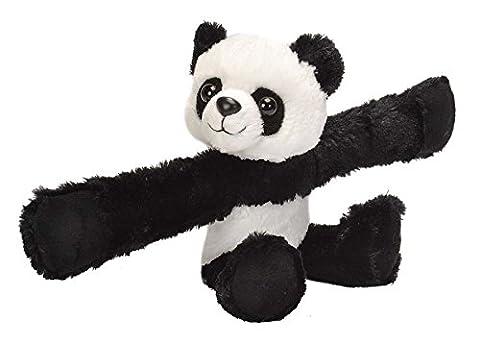 Wild Republic - 19558 - Huggers - Panda en Peluche avec Bracelet à Claquer - 20 cm