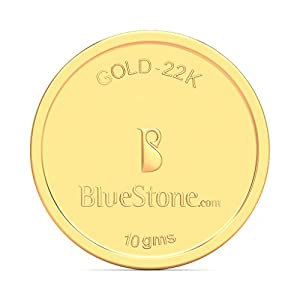 BlueStone BIS Hallmarked 10 Grams 22k (916) YelLow Gold Precious Coin