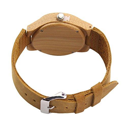Die Beste Acmede Damen Holzuhr Holz Armbanduhr Bambus Uhr