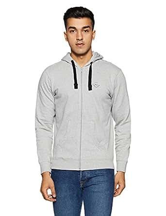 Wrangler Men's Cotton Sweatshirt (8907649214350_W248015GC8ZA_XXL_Grey Melange)