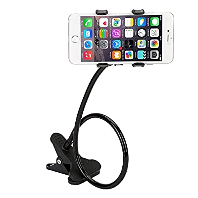 OSAN Universal Cell Phone Clip Holder Lazy Bracket Flexible Long Arm for iPhone, Smart Phone, GPS Devices, Fit On Desktop, Bed, Office, Bathroom, Kitchen