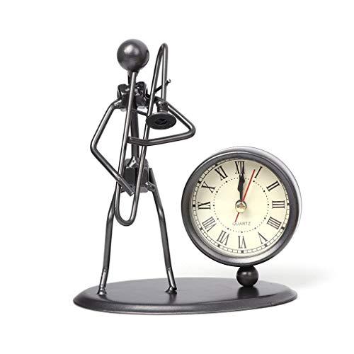 Ogquaton Mesa Hierro Reloj Despertador Instrumento
