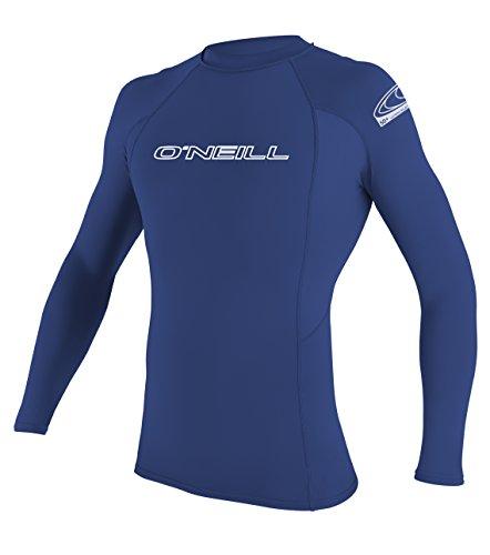 O'Neill Wetsuits Herren Uv Schutz basic skins L/S crew Rash Vest, Pacific, 2XL