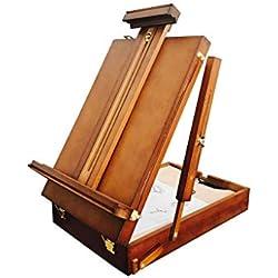 LIUFS Aufgefüllte Erwachsene Desktop-Ölgemäldeausstellung des Tischplatten-Skizzenbrettes Aluminiumlegierung (Farbe : Brown, größe : L)