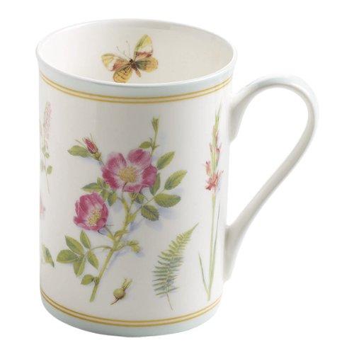 Maxwell & Williams S303003 Butterfly Garden Becher, Kaffeebecher, Tasse, 350 ml, in Geschenkbox, Porzellan, mint (Teller Garden Butterfly)