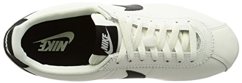 Nike Uomo, Classic Cortez Leather Se, Pelle, Sneakers, Bianco Nero (Negro (Black / Anthrct-Mtlc Hmtt-White))