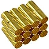 Gazechimp 12 Conjuntos de Pegamento Tubo del Corchete de Barril Magnético para Pulsera Collar de Cierre 4mm