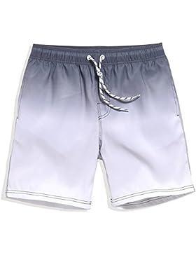 Zgsjbmh Pantalones de Baño de Secado Rápido Sueltos Pantalones de Playa Transpirables Viajes al Aire Libre para...