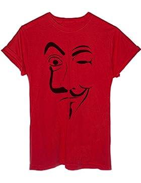 T-Shirt Maschera Dali V per Vendetta Mashup La Casa di Carta - Famosi
