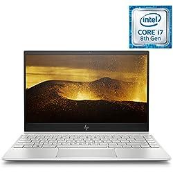 HP ENVY 13-ah1011nf PC Ultraportable 13,3'' IPS FHD Argent (Intel Core i7-8565U, 8 Go de RAM, SSD 512 Go, AZERTY, Windows 10) PC Nouvelle Génération