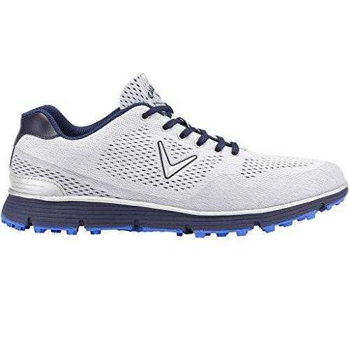 Callaway Chev Mulligan - Zapatos de golf para hombre, color blanco/gris/verde, talla 46 (M)