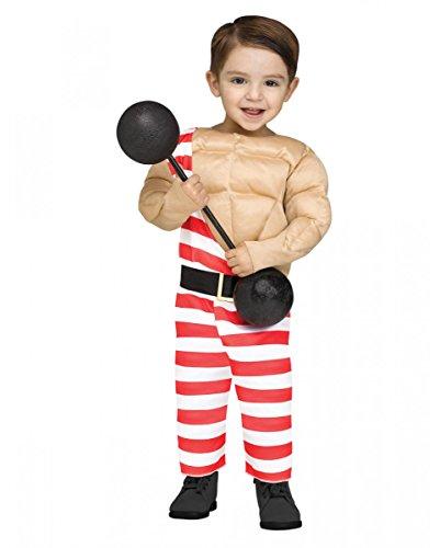 einkinderkostüm für Fasching L/ bis 4Jahre (Zirkus Starker Mann Kostüm)