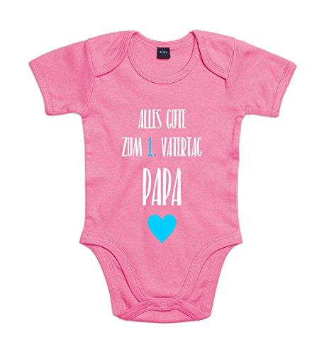 y 1. Vatertag Für Jungen und Mädchen mit Motiv Spruch Alles Gute Zum Ersten Vatertag in 10 Verschiedenen Farben erhältlich Bubble Gum Pink 3-6 Monate (Gum Namen)