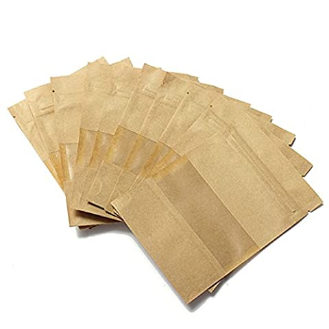 Qingsun Stand Up Kraft Paper Nut Food Packaging Pouches Storage Zipper Bags -16*26+4 cm