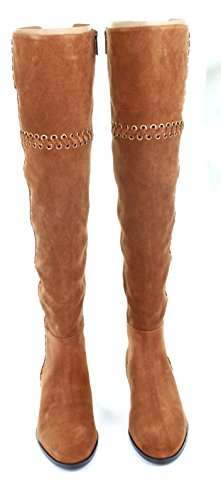 Michael Kors Malin Suede Boots Caramel (Brown)